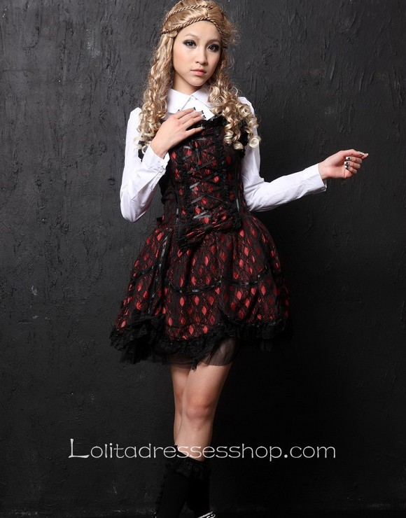 Purple two-piece Shirt Collar Lolita dress With White blouse Style