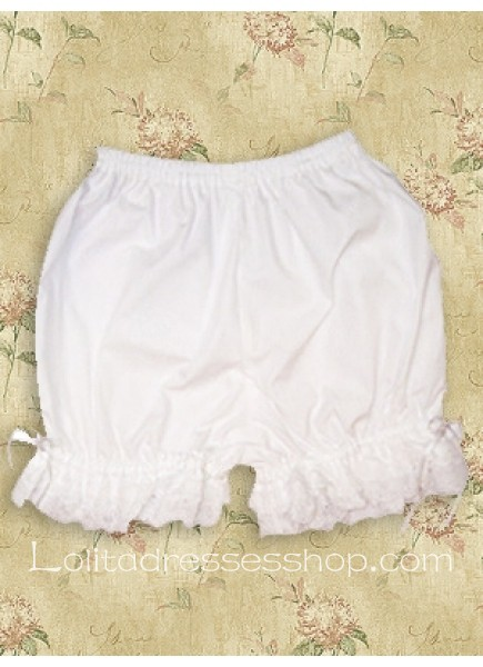 White Cotton Natural Sweet Lace Lolita Bloomer