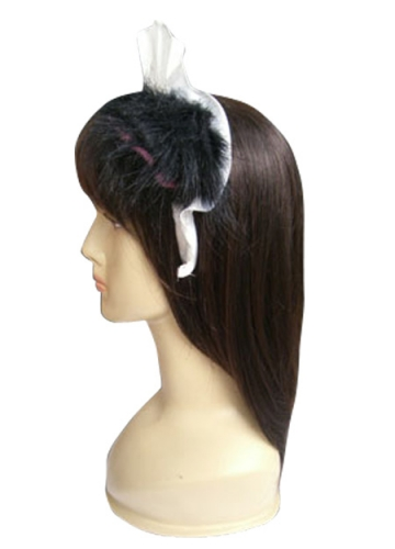 White And Black Polyester Fake Ears Lolita Headband