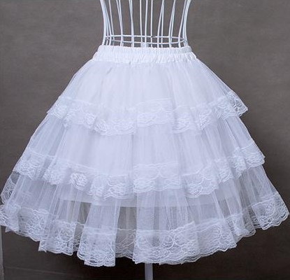 White Cotton/Hard Tulle Lolita Dress Petticoat