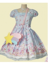 Sweet Cotton Dream of Lolita Milky Planet Lolita Dress