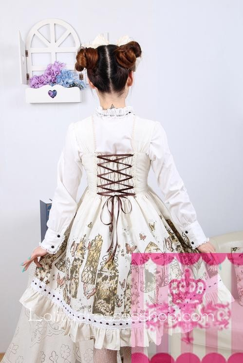 Cotton Stand Collar Long Sleeve Sweet Lolita Dress