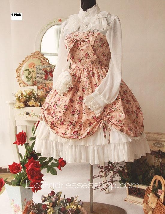 Cheap Cotton And Chiffon Spring Fragrance Wild Rosy Blouse Lolita ...