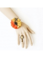 Sweet Orange And Yellow Lace Trim Lolita Bracelet
