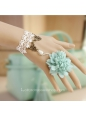 Blue And White Flower Ring Lolita Bracelet