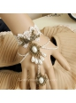 Luxurious White Beadings With Ring Lolita Bracelet