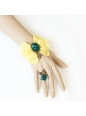Yellow Flower With Ring Lolita Bracelet