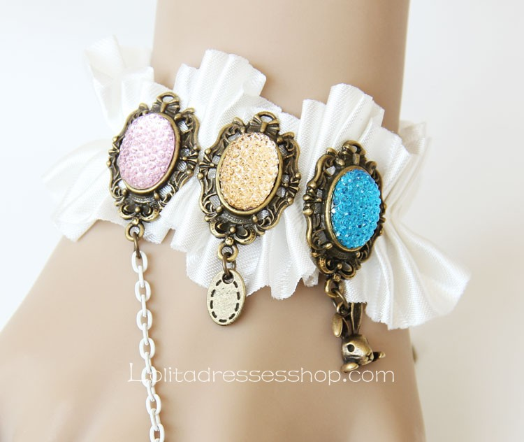 White Shining Diamond Lolita Bracelet