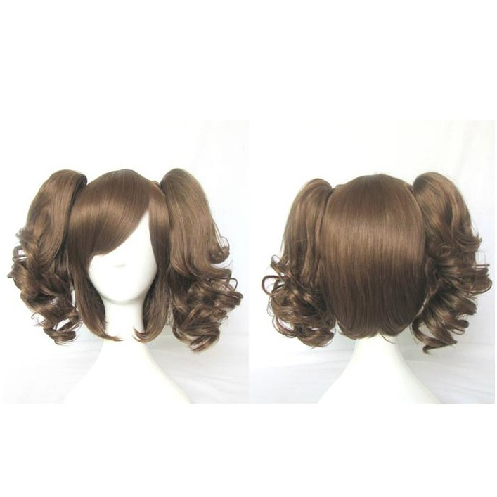 Lolita Curly Wig Brown 30 cm