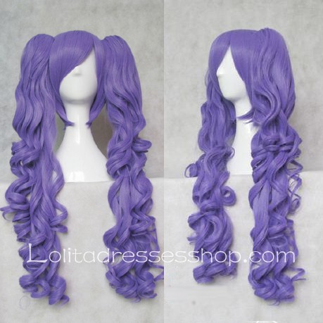 Lolita Curly Wig by Purple 55cm