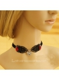 Lady Punk Devil Invitations Black Lace Necklace