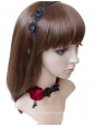 Vampire Fashion Black Lace Flower Female Short necklace