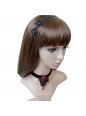 Gothic Lolita Style Fashion Black Lace Necklace