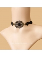 Lolita Gothic Style Black Lace Cobweb Female Necklace