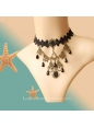 Lolita Dark Queen Retro Female Belly Dance Necklace