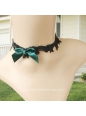 Lolita Black All-match Lace Bow Short Necklace