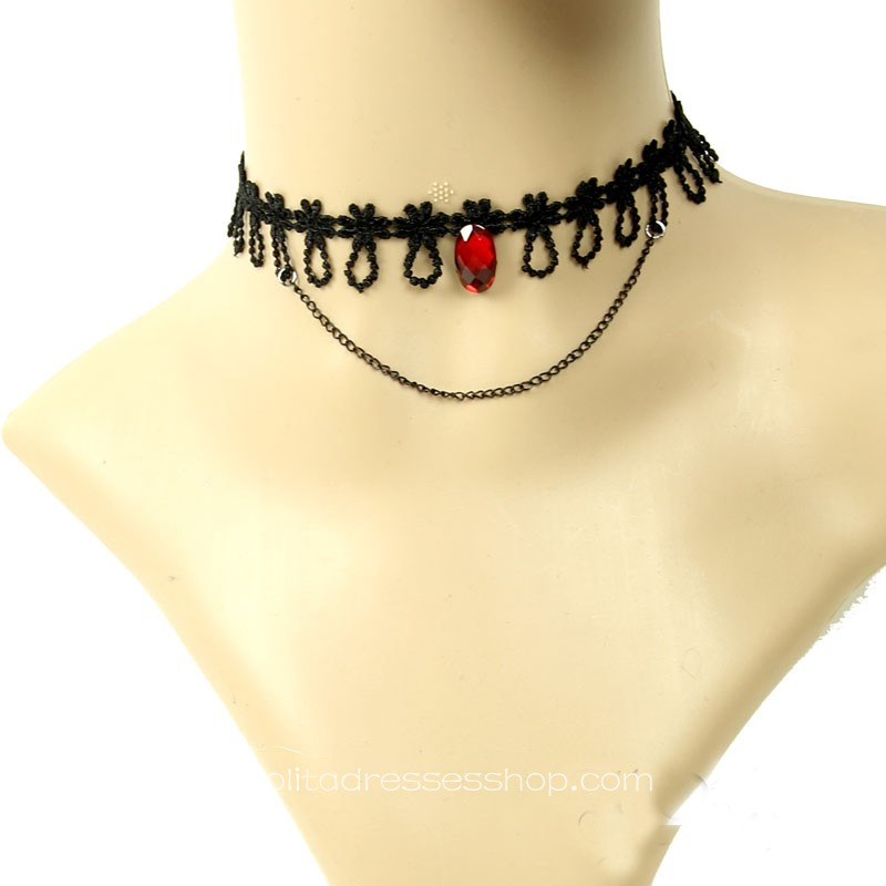 Vampire Black Lace Necklace