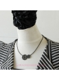 Lolita Black Lady Fashion Punk Style Gear Necklace