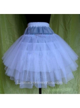 Three Layer White Yarn Sweet Lolita Dress Petticoat