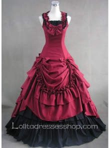 Luxuriant Prom Tiers Ruffle Sleeveless Gothic Victorian Lolita Dress