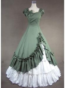 Sweetheart Ruffled Bow Decoration Gothic Victorian Lolita Dress