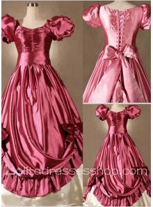 Gothic Victorian Super Gorgeous Pink Bow Princess Lolita Dress 3f7b52006fe8