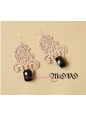 Lolita Milk Coffee Lace Retro Gem Earring