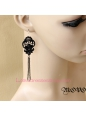 Lolita Winter Story Black Lace Tassels Earring