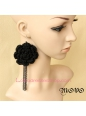 Lolita Big Flowers Long Tassels Christmas Ornament Tassels Earring