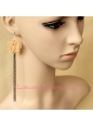 Lolita Small Fresh Flowers Long Tassels Retro Lady Earring