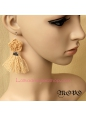 Lolita Retro Flowers Lace Tassels Lady Earring