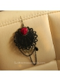 Lolita Gothic Style Red Rose Nightclub Party Earring