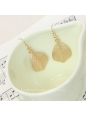 Lolita Fashion Retro Golden Leaves Palace Earring