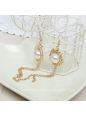 Lolita Golden Tassels Pearl Palace Retro Fashion Earring
