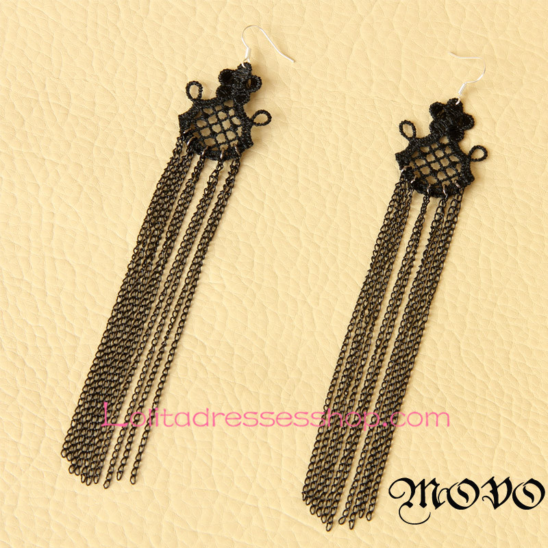 Lolita Long Tassels Sexy Queen Creative Earring