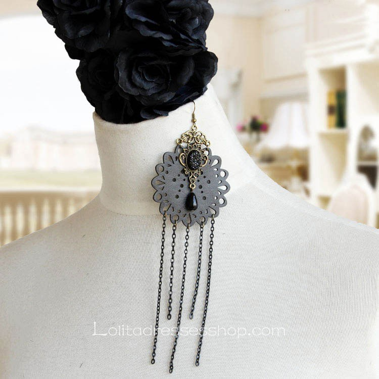 Lolita Gothic Style Long Tassels Retro Fashion Earring