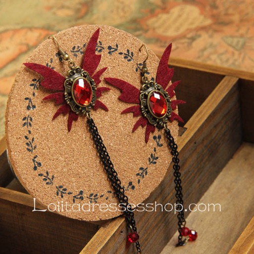Lolita Gothic Style Butterfly Retro Handmade Tassels Earring