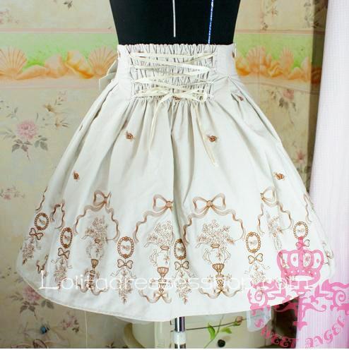 cheap khaki princess rose embroidery pattern ribbon corset