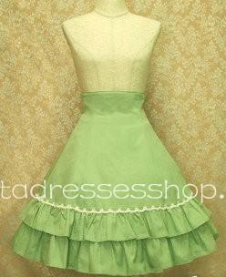 78b166c3f5 Cheap Green Simple Elegance Corset Pleated Lolita Skirt Sale At Lolita  Dresses Online Shop