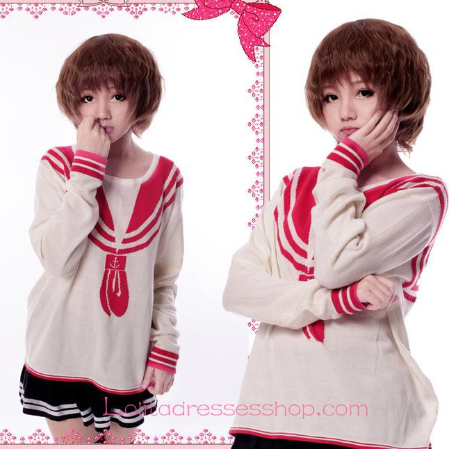 Lolita Light Brown Slightly Curled Short Maid Cute Cosplay Wig