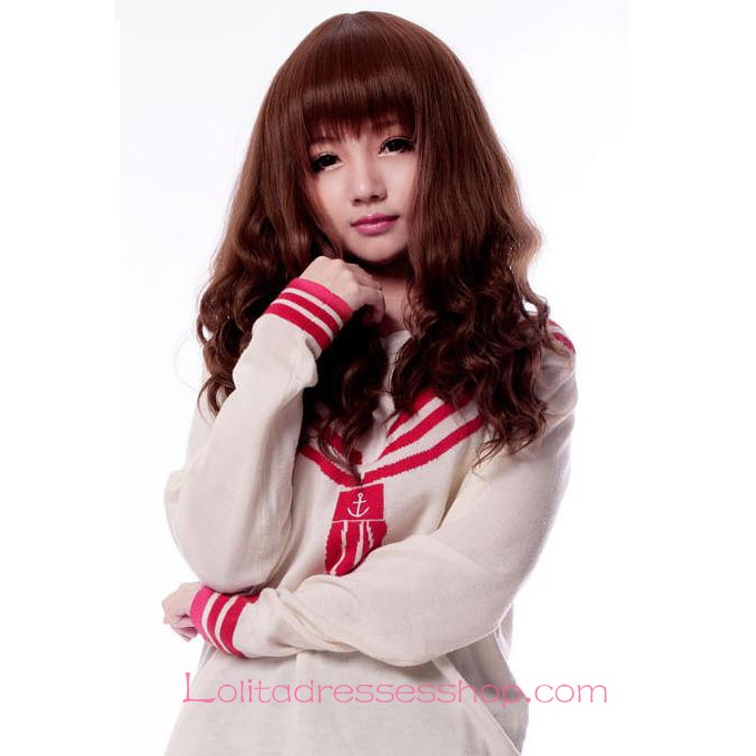 Lolita Brown Fluffy Small Volumes Maid Cute Cosplay Wig