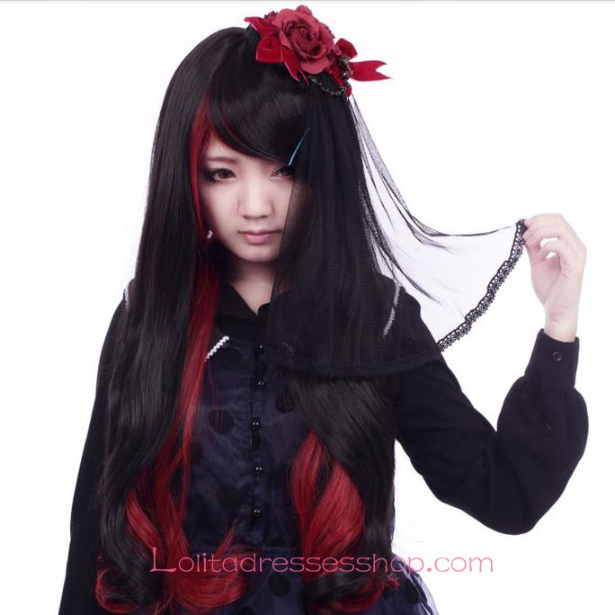 Cheap Lolita Red Black Long Changing Shape Maid Cute Cosplay Wig Sale At Lolita Dresses Online Shop  sc 1 st  Lolitadressesshop & Cheap Lolita Red Black Long Changing Shape Maid Cute Cosplay Wig ...