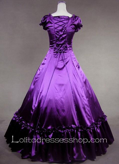 Cheap Luxuriant Purple And Black Gothic Victorian Lolita Dress Sale