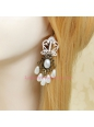 Elegant White Lace Crown Pattern Lolita Earring