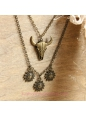Vintage Bronze Alloy Tau Sun God Lolita Sweater Chain