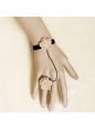 Sen Department Vintage Wool Flower Lolita Bracelet