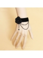 Fashion Velvet Ribbon Flower Lolita Bracelet