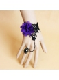 Gothic Black Lace and Dreamful Flower Sweet Lolita Bracelet