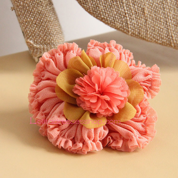 Lolita Headdress Sweet Big Flower Seaside Hair Rope