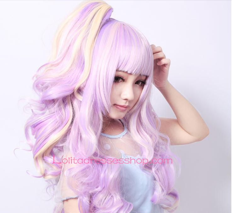 Lolita Curly Purple Sweet Girl Maid Cute Cosplay Wig